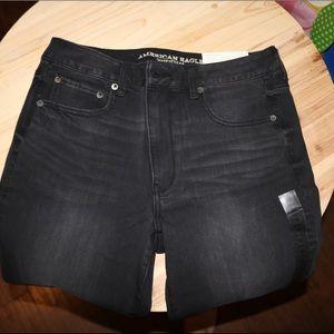 American Eagle Straight Black Jeans